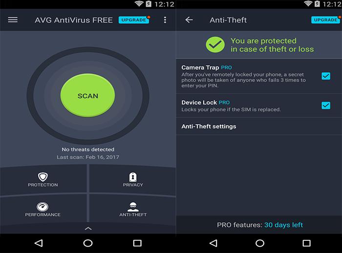 AVG AntiVirus Free (Android)