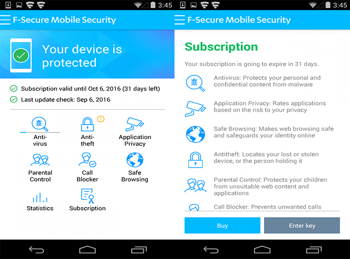 F-Secure Mobile Security (Android)